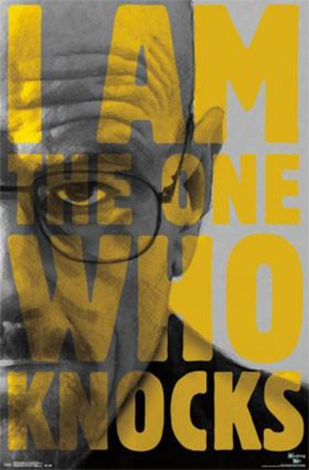 Walter White I/'m The One Who Knocks Glossy Poster 11in x 17in 24in x 36in