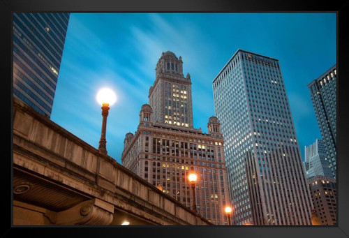 Jewelers Building Chicago Illinois Skyline Photo Photograph Art Print Stand Or Hang Wood Frame Display Poster Print 13x9 Poster Foundry