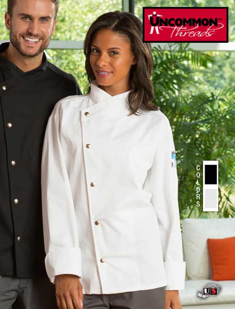 Uncommon Threads Unisex Chef Coat Jacket CALIENTE color White 0492 size Medium
