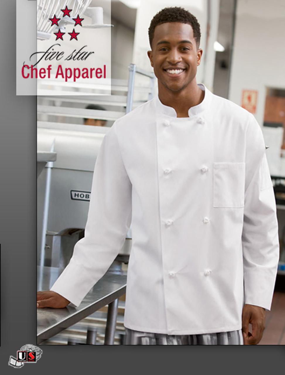 Five Star Chef Apparel Unisex Knot Button Coat