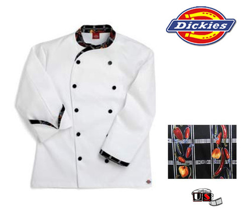 Dickies Executive Chef Coat - Pasta Strings Design