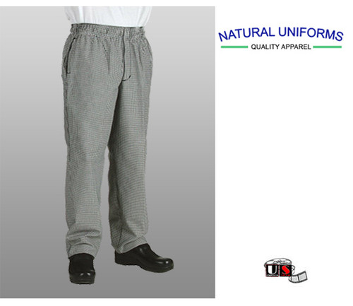 Natural Uniforms Chef Revival Houndstooth Chef Cook Pants