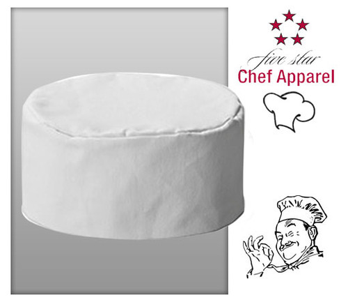 Five Star Chef's Apparel Unisex Bakers Cap - White