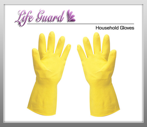 LIFE GUARD Household Gloves - 12 Pairs / Bg