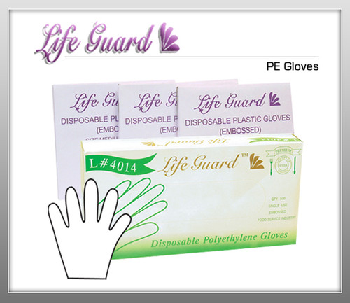 LIFE GUARD PE Gloves - 500 Pc / Bx