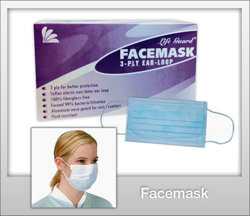 LIFE GUARD Face Mask  - 50 Pc / Bx