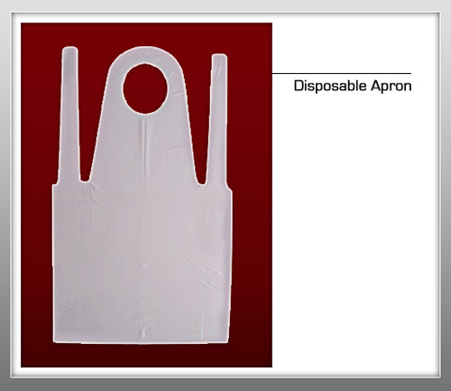 Disposable Nylon Apron - 100 Pcs / Bx