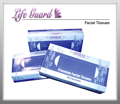 LIFE GUARD Facial Tissues - 100 Pcs Per Box