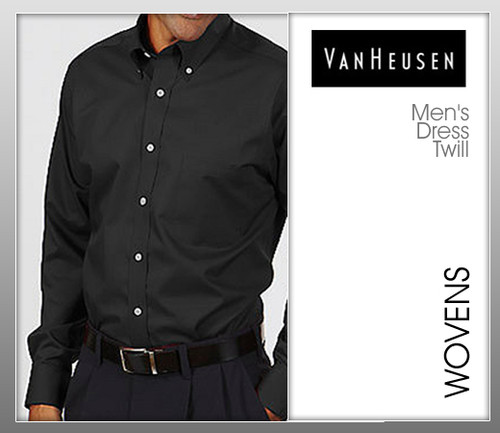 Van Heusen Mens Long Sleeve Dress Twill