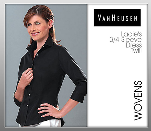 Van Heusen Ladies 3/4 Sleeve Dress Twill