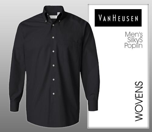 Van Heusen Men's Silky Poplin
