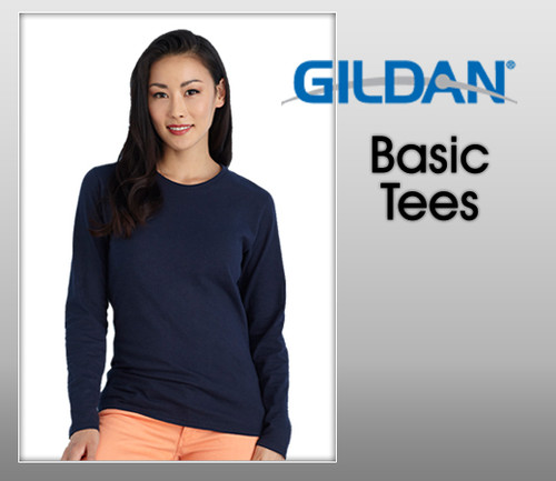 Gildan Ladies Heavy Cotton Long Sleeves Tee