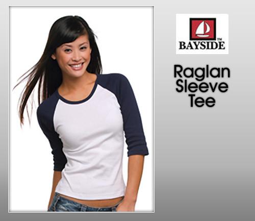 Bayside Junior Raglan Sleeve Tee