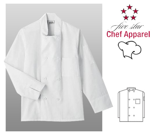Five Star 8 Button Chef Uniform Jacket - White