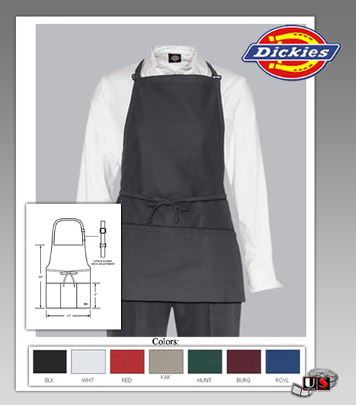 Dickies Chef Adjustable Bib Apron