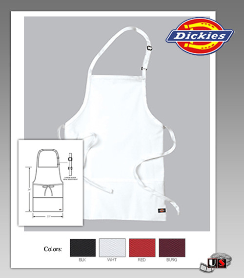 Dickies Chef Pocket Adjustable Neck Bib Apron