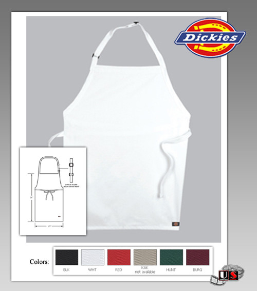 Dickies Chef Adjustable Bib No Pocket Apron