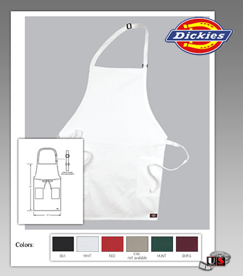 Dickies Chef Adjustable Bib Apron Two Pocket