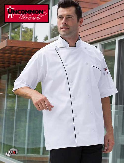 Uncommon Threads MONTEBELLO Chef Coat with Black Piping