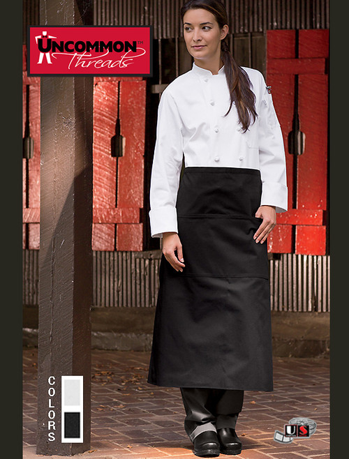 Uncommon Threads REVERSIBLE 3-POCKET BISTRO Apron