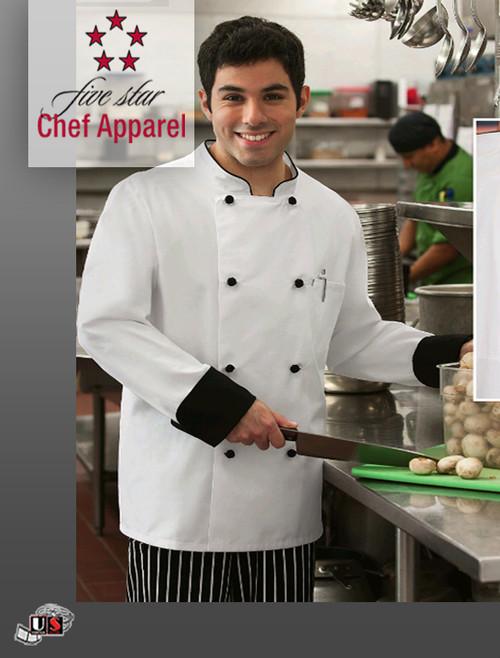 Five Star Unisex Long Sleeve Executive Chef Coat
