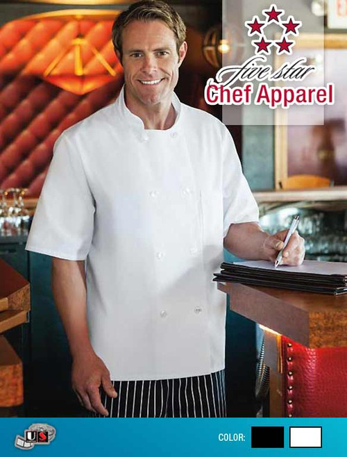 Five Star - Short Sleeve Chef Jacket