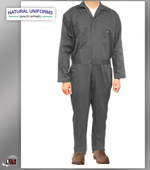 Natural Uniforms Workwear Mens Long Sleeve Basic Blended Work Coveral - Royal