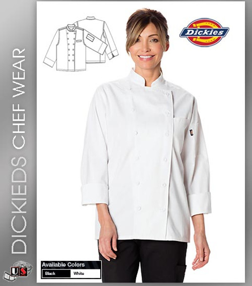 Dickies Chef Women's Executive 2 Pockets Chef Coat