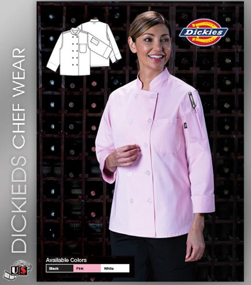 Dickies Chef Women's Classic 2 Pockets Chef Coat