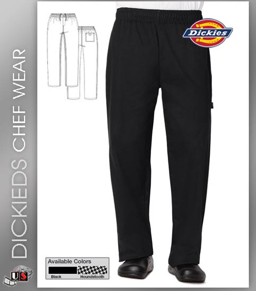 Dickies Chef Men's Traditional Baggy 3 Pockets Chef Pant with Zipper Fly
