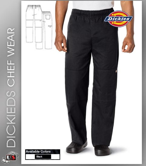 Dickies Chef Unisex 4 Pockets Double Knee Baggy Chef Pant