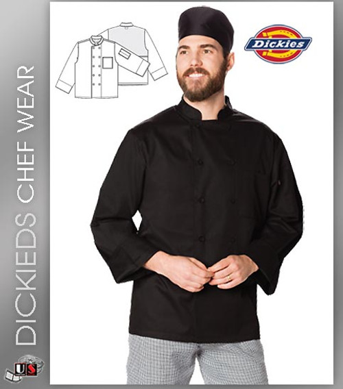 Dickies Chef Unisex 2 Pockets Cool Breeze Chef Coat