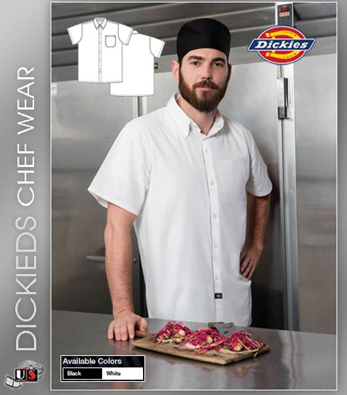 Dickies Chef Men's 1 Pocket Poplin Cook Shirt
