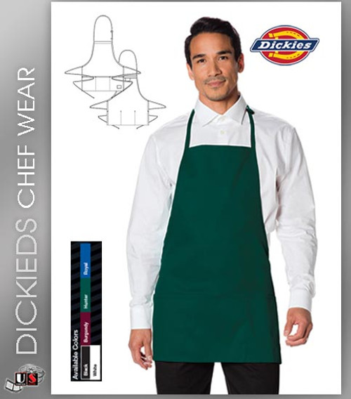 Dickies Chef Unisex 1 Pocket Bib Apron
