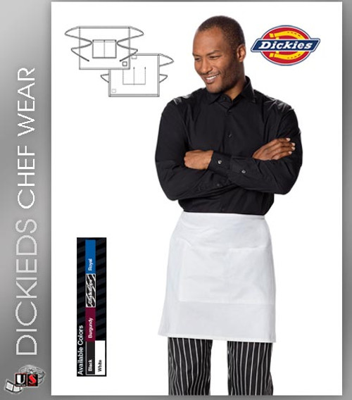 Dickies Chef Unisex 1 Pocket Waist Apron Half Bistro