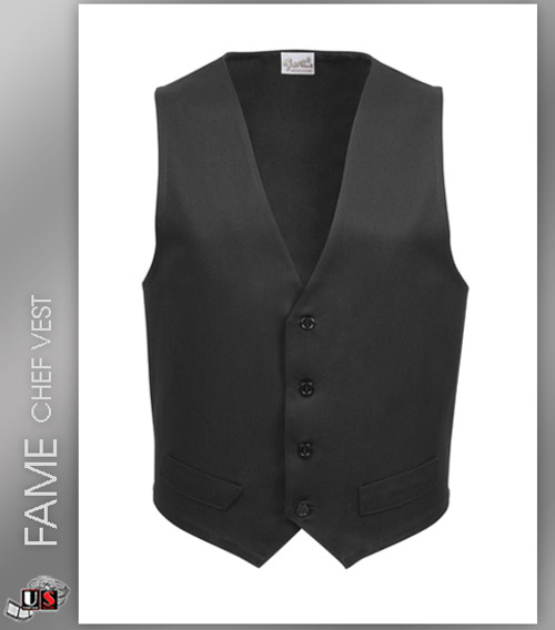 FAME Chef Long Male Fitted Vest