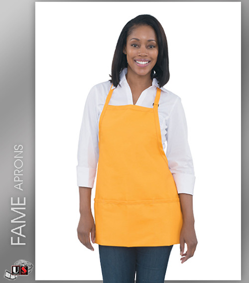 FAME 3 Pocket Adjustable Neck Bib Aprons