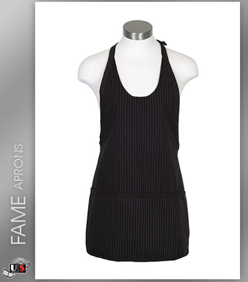 FAME 3 Pocket Scoop Neck Bib Aprons