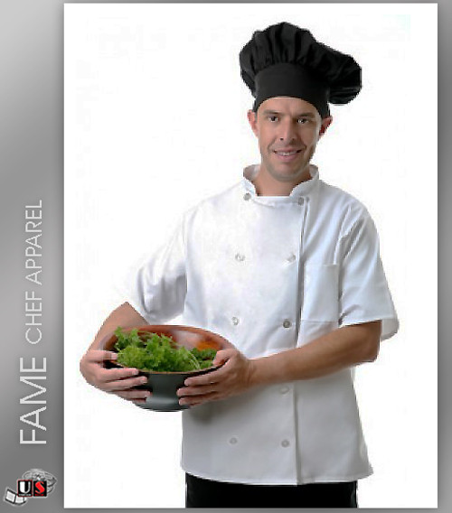 Fame 10 Button Classic Short Sleeve Classic Chef Coat