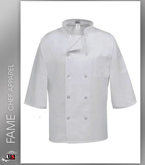 Fame 3/4 Length Sleeve Chef Coat