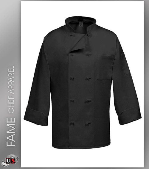 Fame 10 Button French Knot Long Sleeve Chef Coat