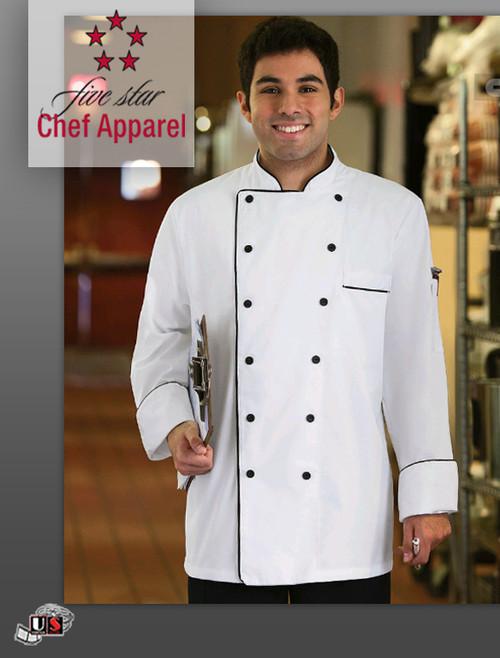 Five Star Executive Chef Uniform Coat - White