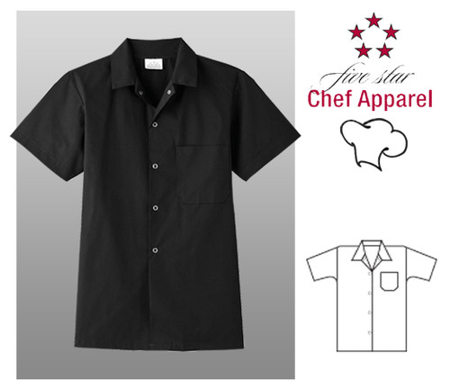 Five Star Chef Uniform Cook Shirt - Black