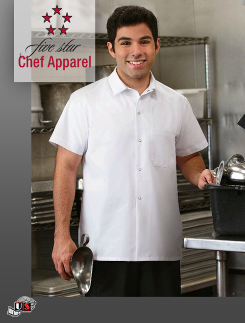 18010-011 Five Star Chef Uniform Cook Shirt - White