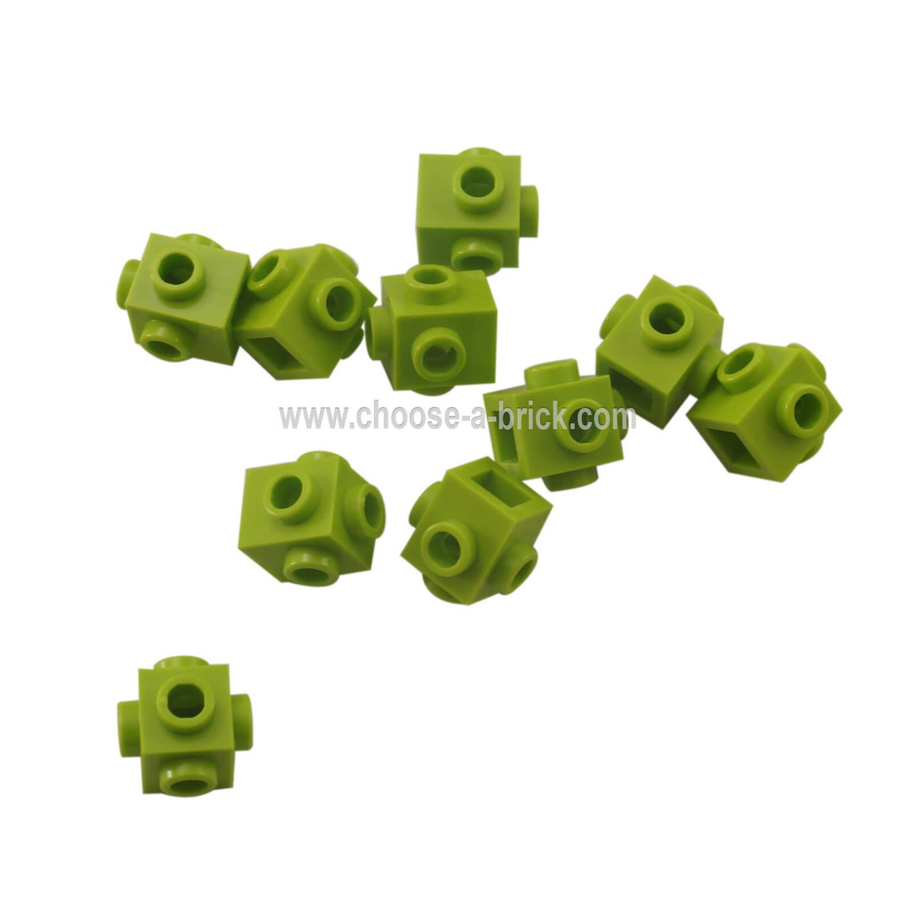 Black Brick 1 x 1 w Studs on 4 Sides No 4733 LEGO Parts QTY 15
