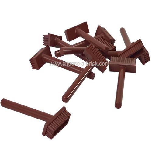 Minifig, Utensil Push Broom reddish brown