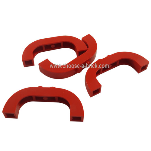 Brick, Arch 1 x 6 x 2 Curved Top red