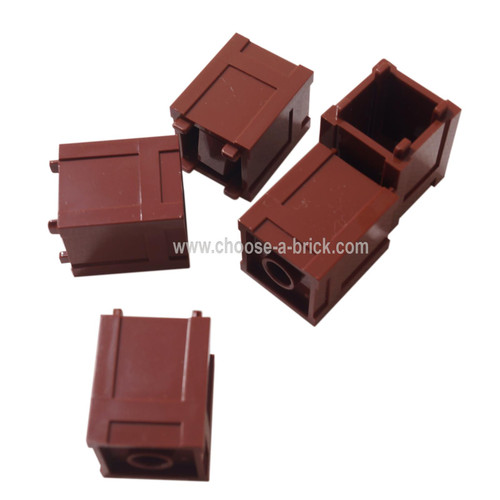 Container, Box 2 x 2 x 2 - Top Opening reddish brown