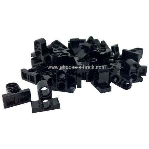Technic, Pin Connector Plate 1 x 2 x 1 2/3 with 2 Holes (Double on Top) black