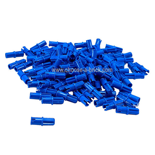 Technic, Axle Pin with Friction Ridges Lengthwise blue